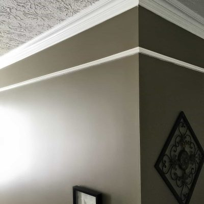Two story foyer upgrade add faux frieze molding