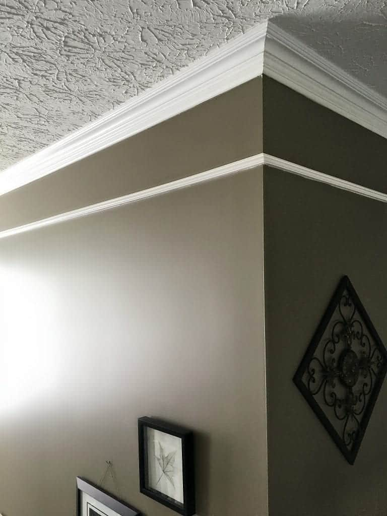 Two Story Foyer Upgrade: Add Faux Frieze Molding