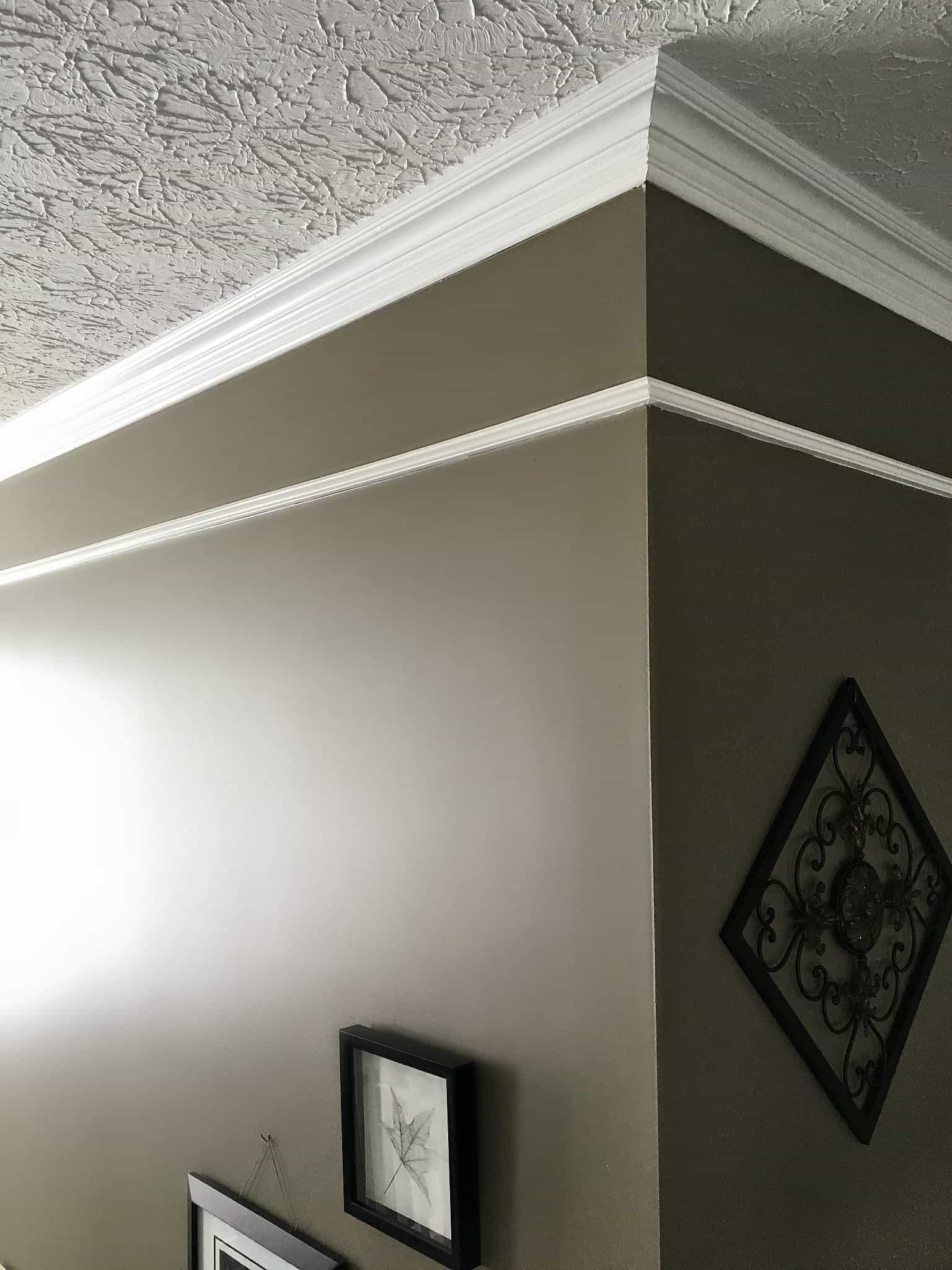 Faux Frieze Molding in Foyer