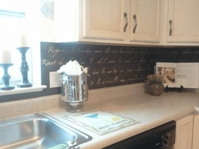 Stenciled Kitchen Backsplash