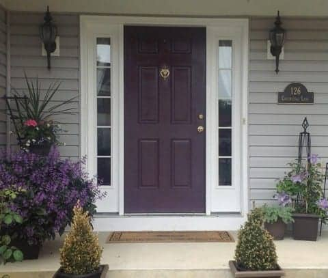 Before: My purple door before glossy black