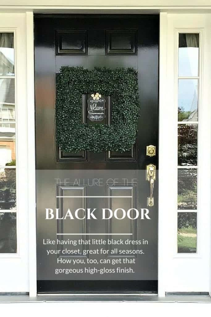 Black Front Door Paint by SnazzyLittleThings.com