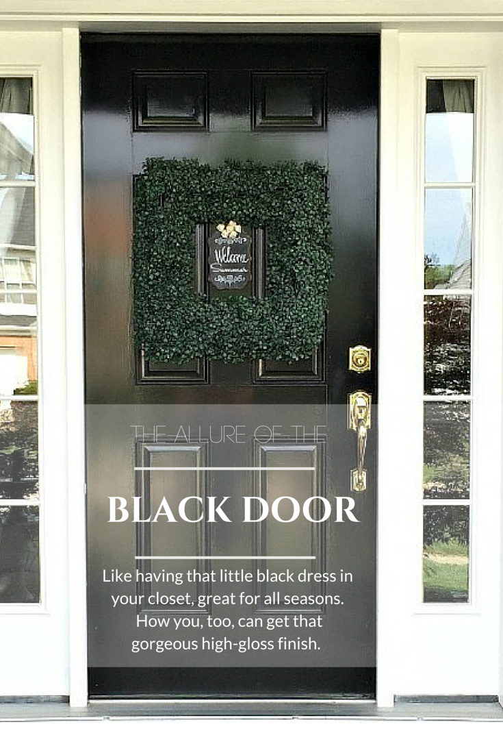Painting Front Door Gloss Black