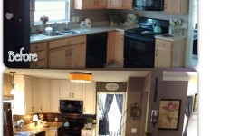 painted kitchen before and after