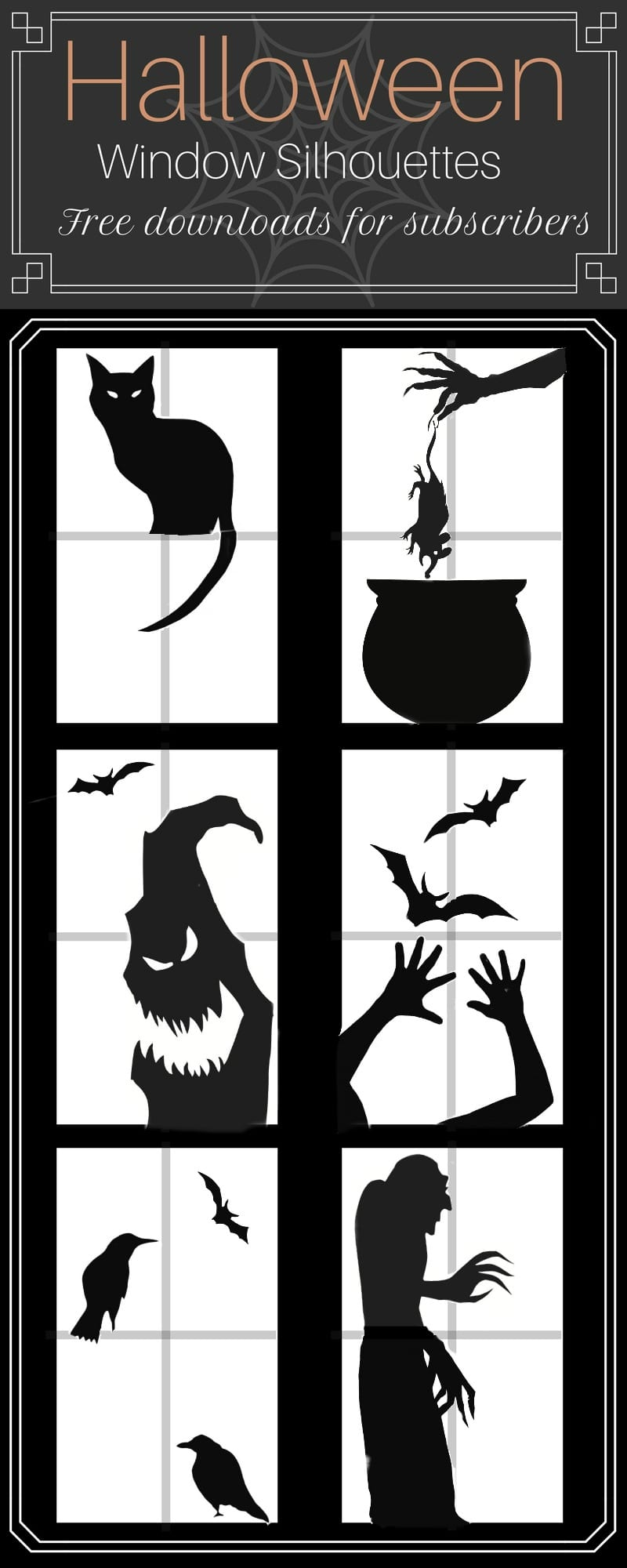 halloween window silhouettes template diy dollar ideas 22067 | Free Halloween Silhouettes for Windows by Snazzy Little Things 1