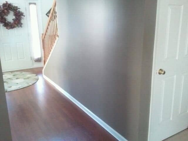 DIY wainscoting hallway before