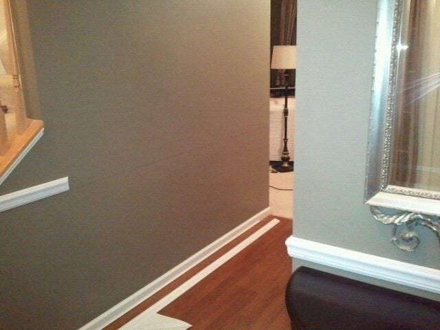 DIY Wainscoting Tutorial, adding the chair rail