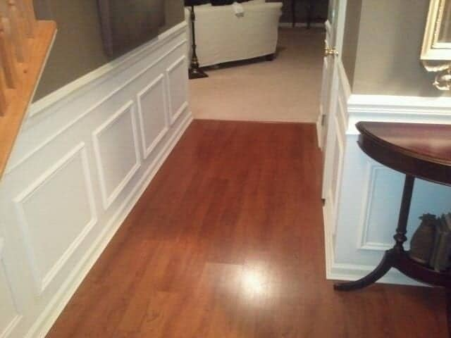 DIY Wainscoting Tutorial   Finished Foyer