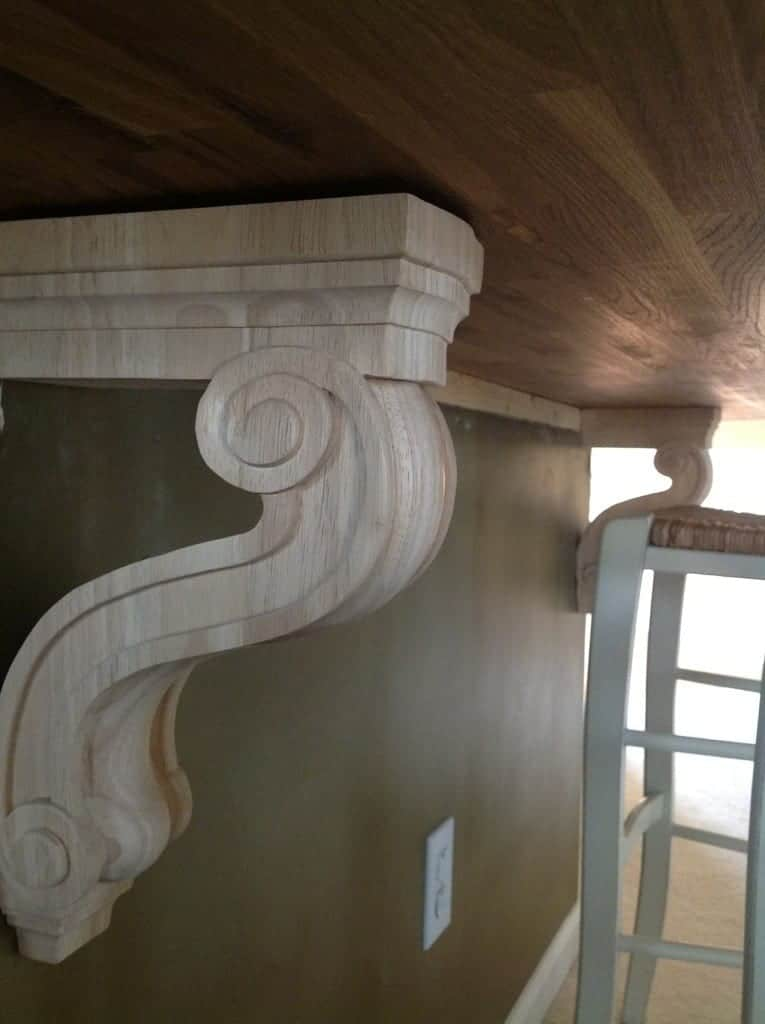 Adding corbels to kitchen island