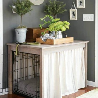 Dog Crate Hack in Better Homes and Gardens