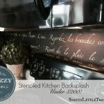 DIY: Stenciled French Backsplash