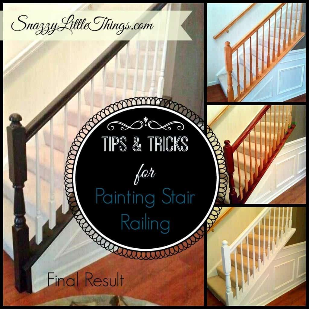painting railing collage