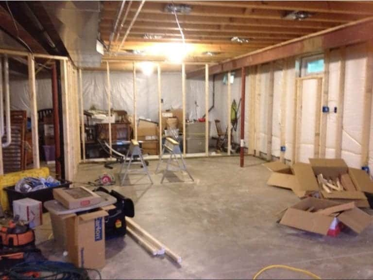 Full Basement Remodel Is Underway!