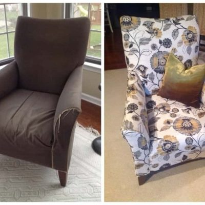 40 Pictures, Step by Step Chair Reupholstery Tutorial | by SnazzyLittleThings.com