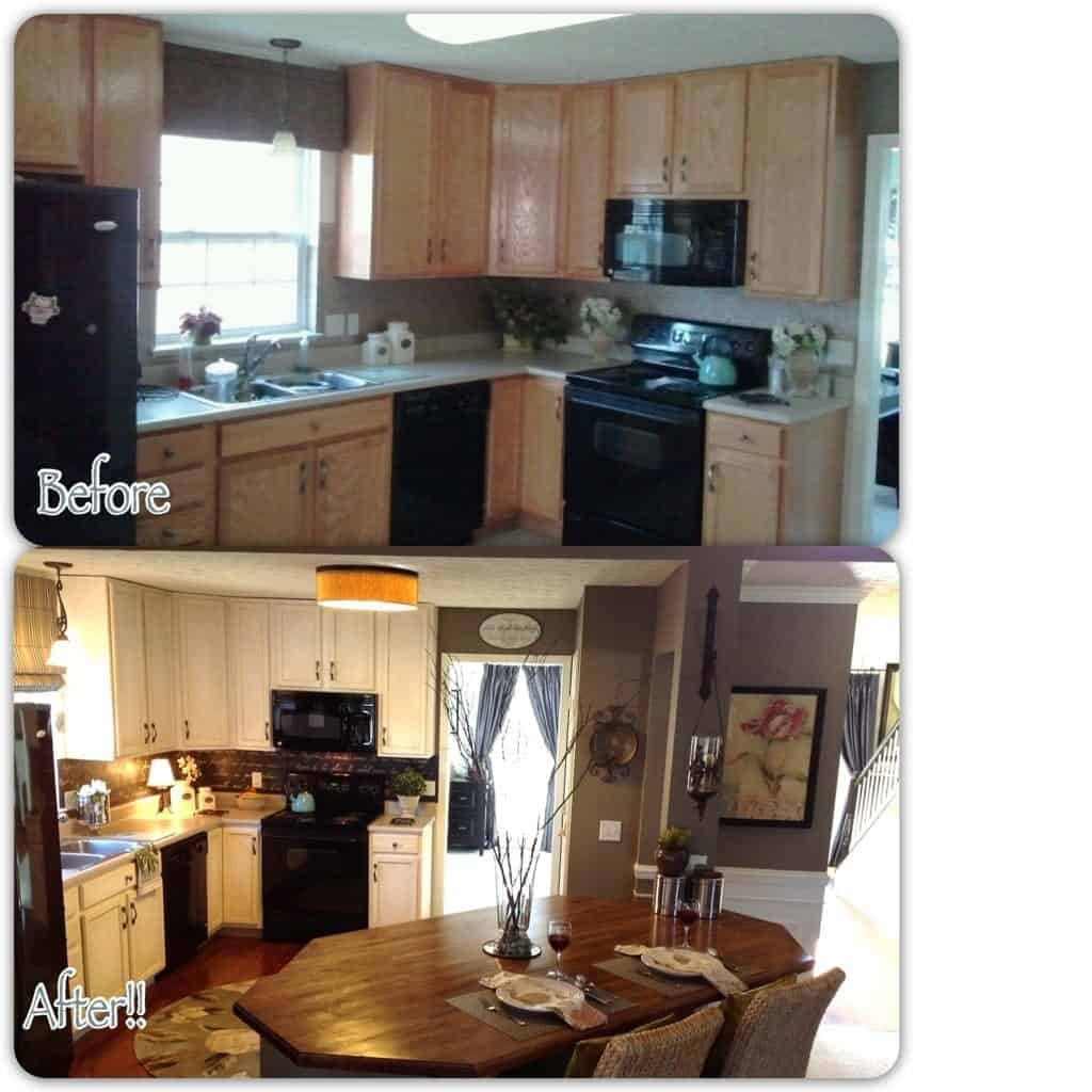 1600 dollar kitchen before after