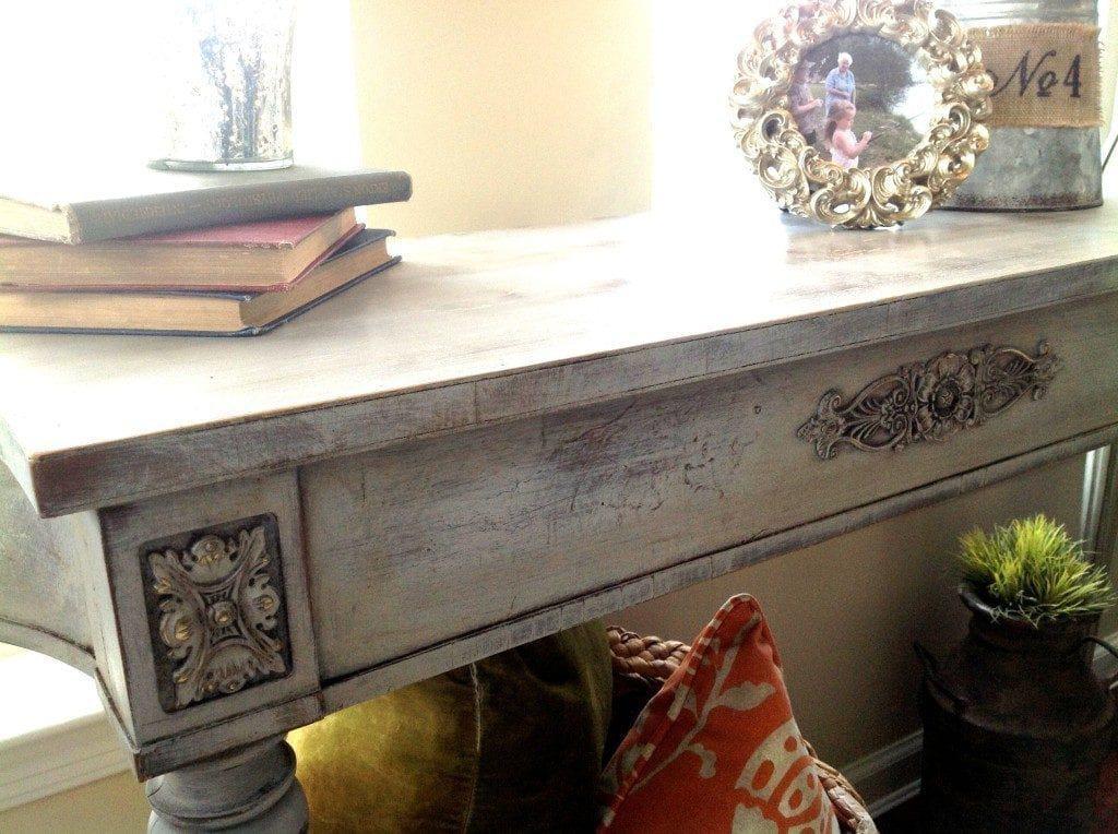 Annie Sloan Victorian Table Update Paris Grey