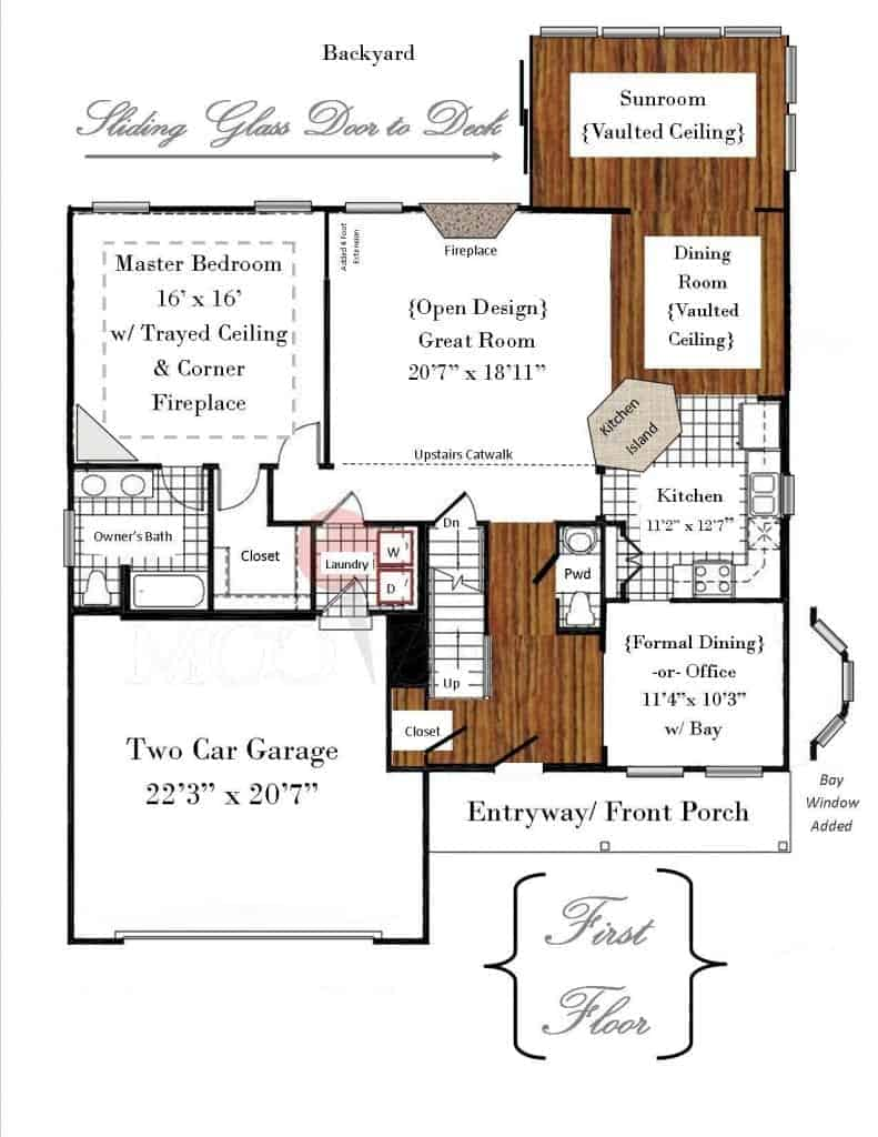 Ryan Homes Floor Plan (First Floor)