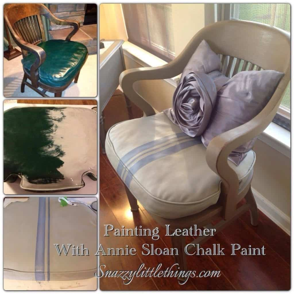 DIY Painting Leather Furniture