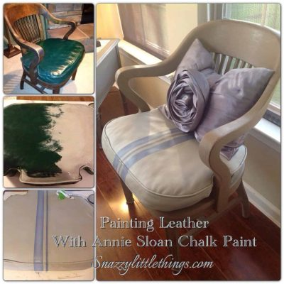 DIY: Painting Leather Furniture