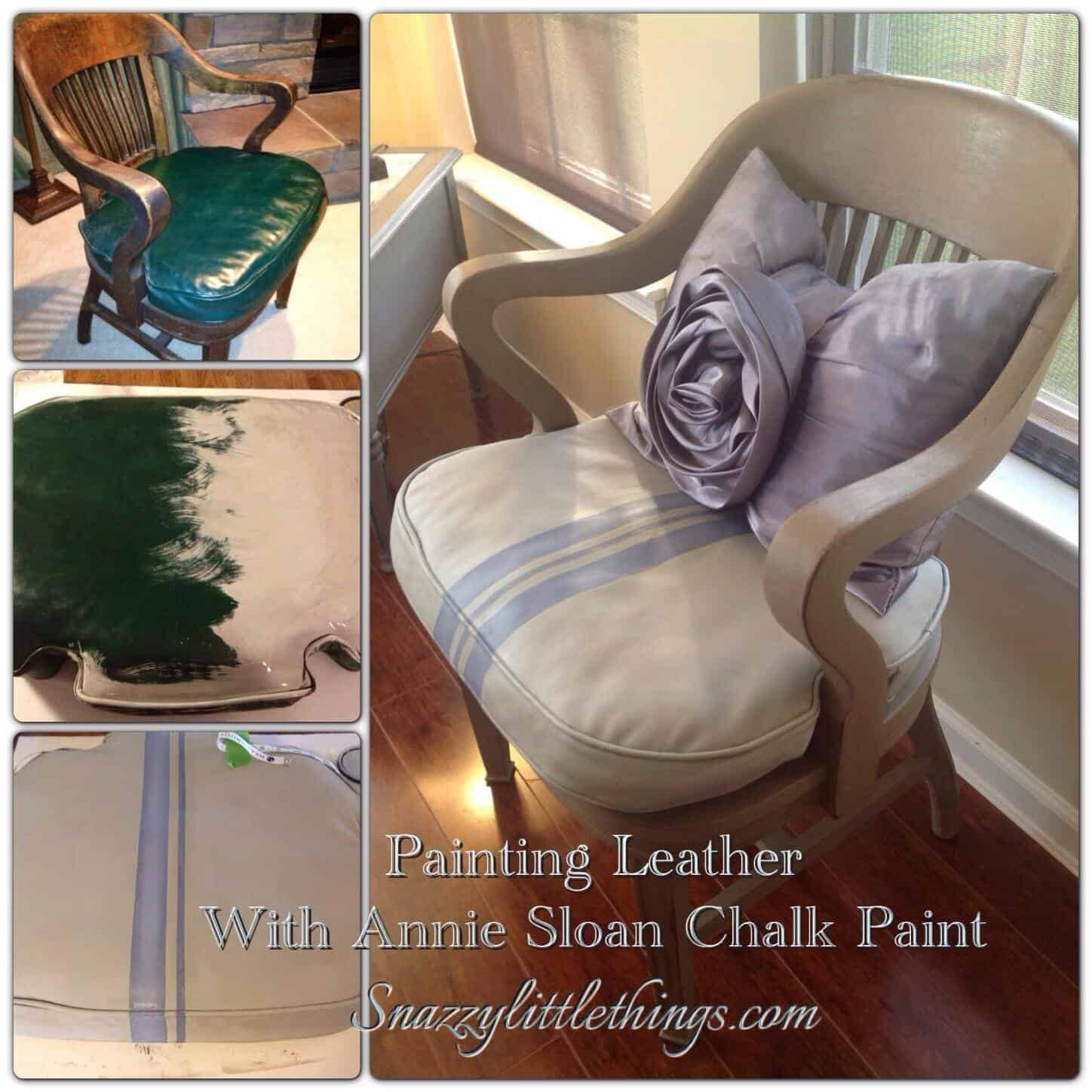 Painted Leather Chair Before After