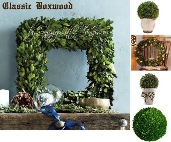 Boxwoods & Grapevine Garlands