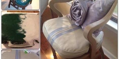 DIY: Painted Leather Chair Makeover