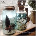 Mason Jar Winterscape, No Glue Required