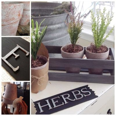 DIY: Vintage Herb Planter