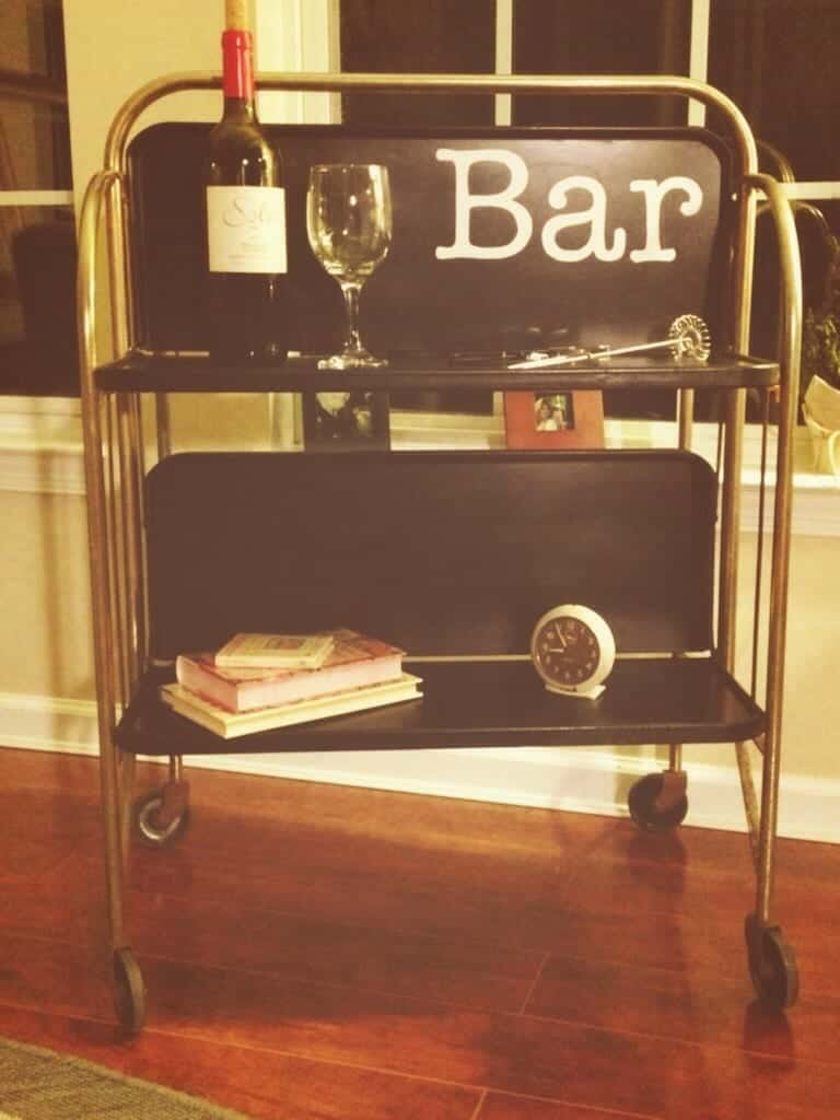 Midcentury Modern Cart Upcycle - by Snazzylittlethings.co