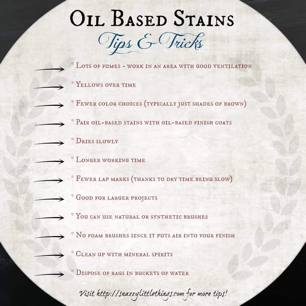 Oil Based Stains by Snazzy Little Things