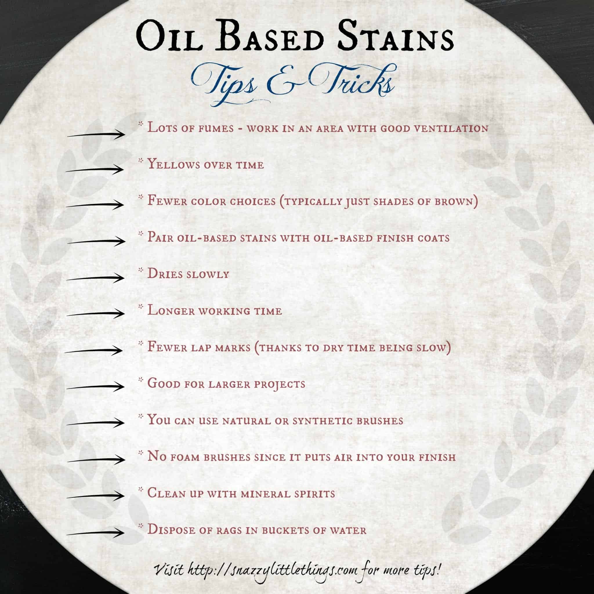 Oil Based Stain Tips & Tricks | snazzy little things
