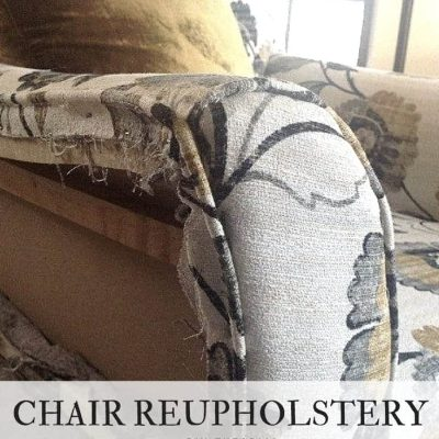 DIY Chair Reupholstery Tutorial