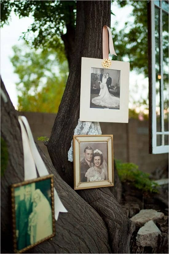 Old Family Photos as Decorative Touches