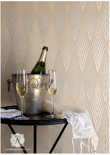 Geometric African Wall Stencil to Paint a Tribal Wallpaper Pattern Royal Design Studio