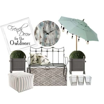 French Decor for the Outdoors
