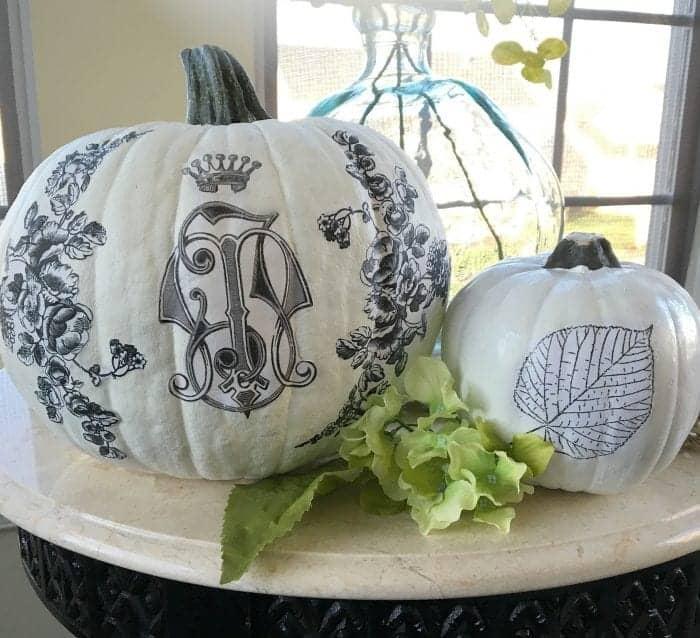 Decoupaged Pumpkins DIY