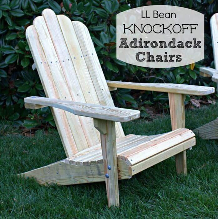 adirondack knockoff chairs ll bean