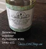 Winterizing Outdoor Furniture with Hemp Oil