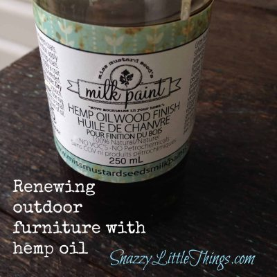 Renewing Outdoor Furniture with Hemp Oil