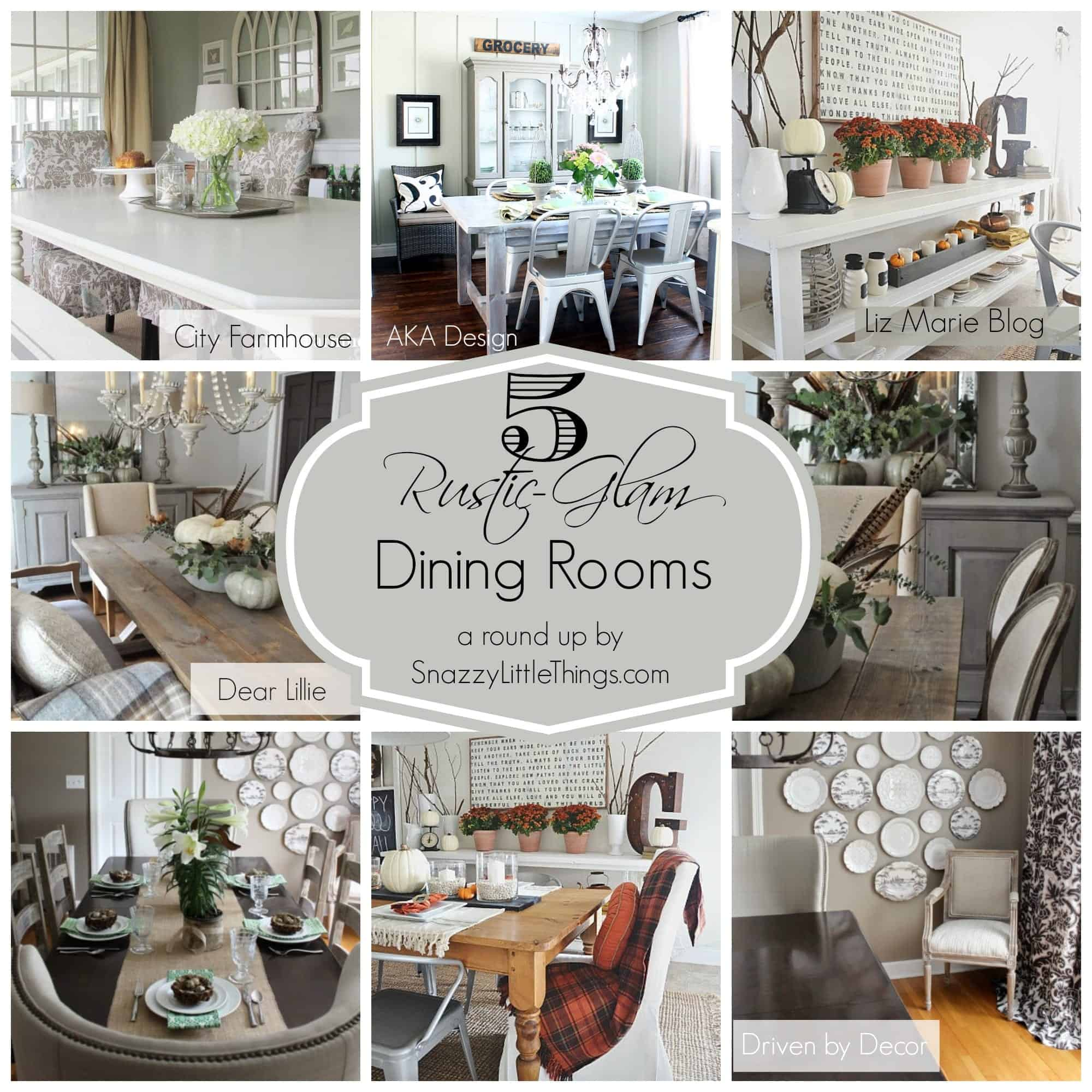 5 rustic glam dining rooms for Dinner room decoration