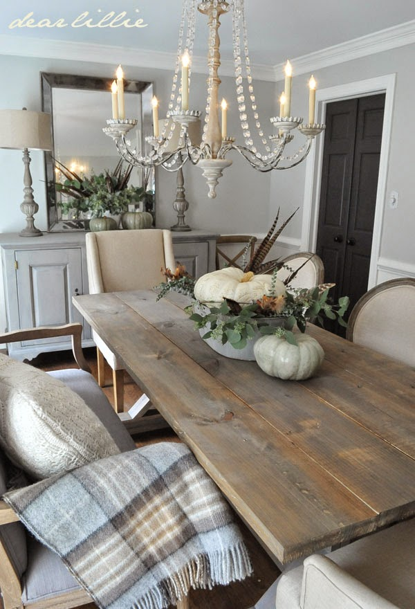 Five Rustic Glam Dining Rooms | snazzy little things