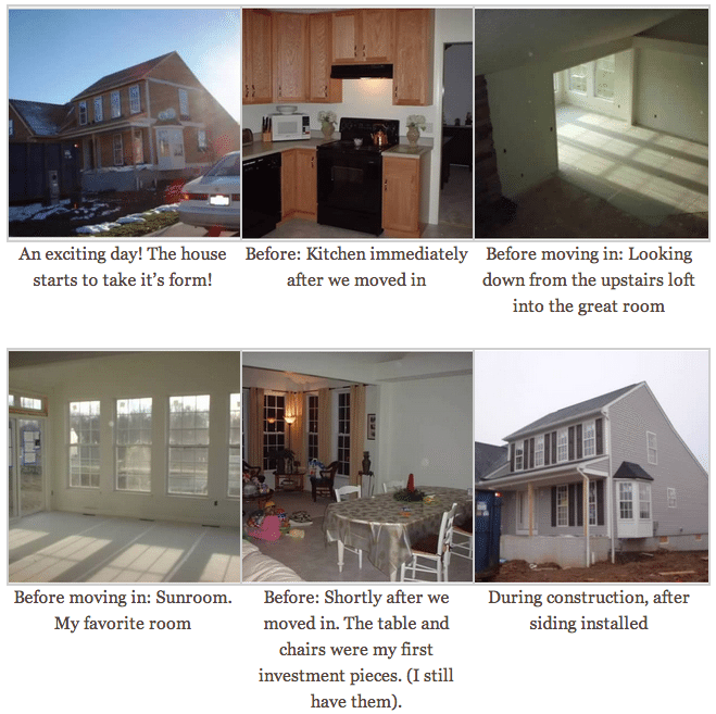 Home Construction in 2005, before all the DIY upgrades | by SnazzyLittleThings.com