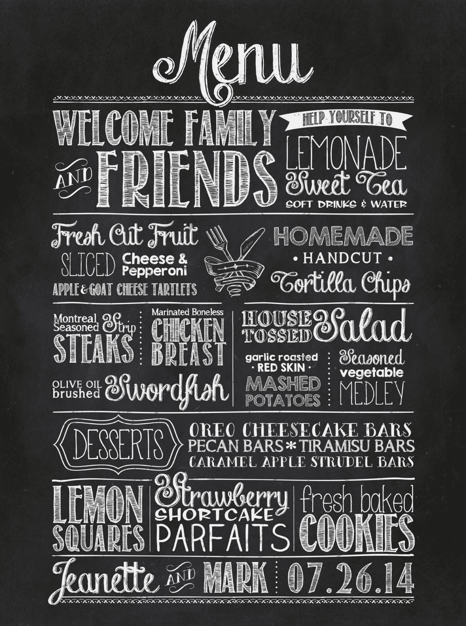 chalkboard menu photo album home design ideas - Chalkboard Designs Ideas