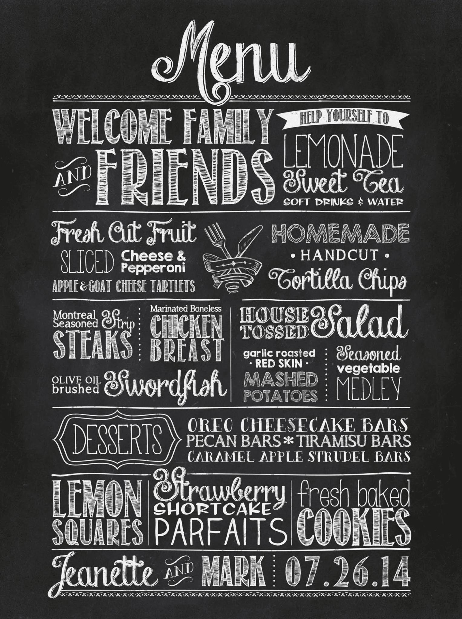 chalkboard menu photo album home design ideas - Chalkboard Designs Ideas