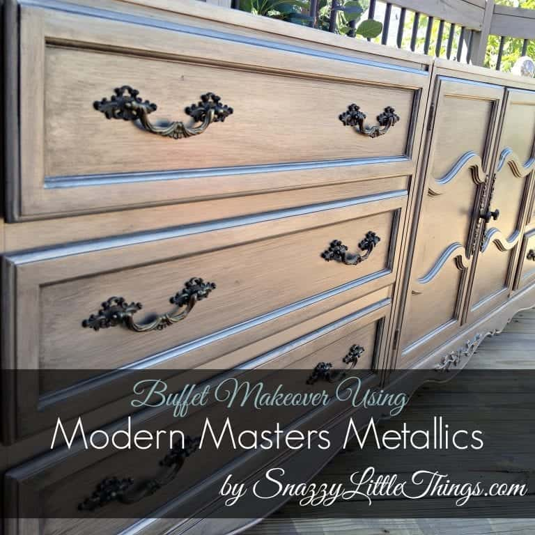 DIY: Buffet Upcycled with Metallic Paint