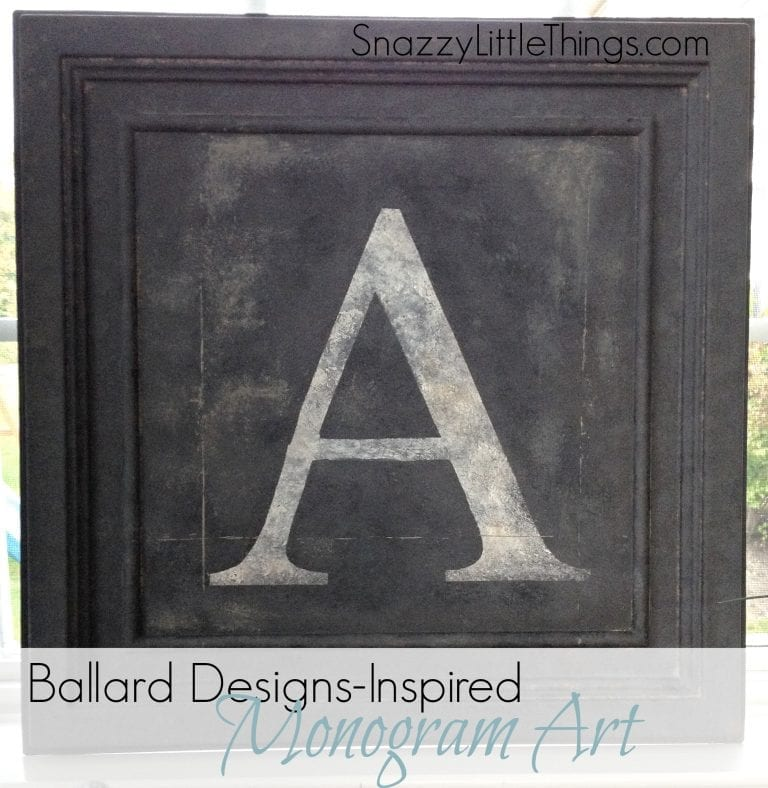 Ballard Designs-Inspired Monogram Art