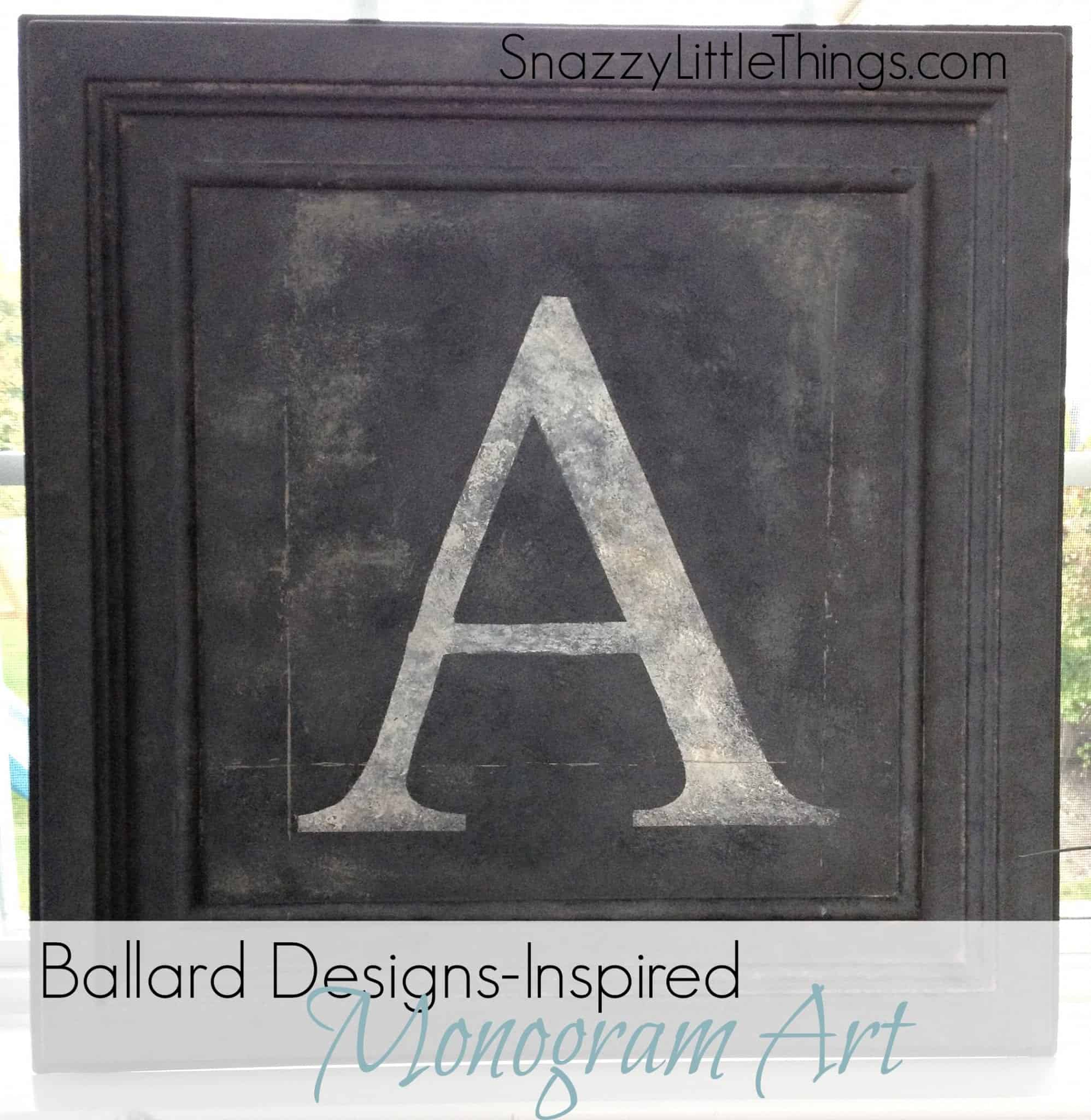 Above My DIY Version Of Ballard Designs Monogram Art 100 I Used Extra Paint Supplies Already Had At Home