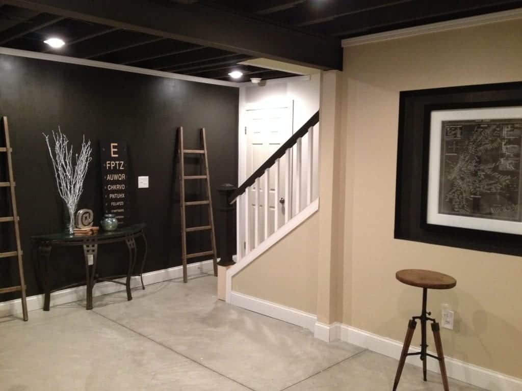 industrial basement stairs after