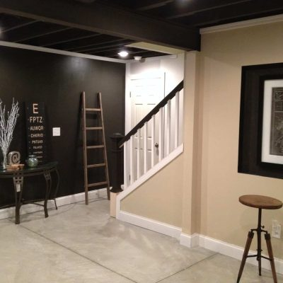 Industrial Basement Remodel 800 square feet