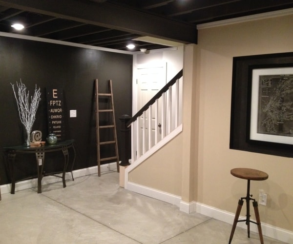 Photos Featured Basement Remodel: Basement Remodel Floor Plan With Exposed Ductwork